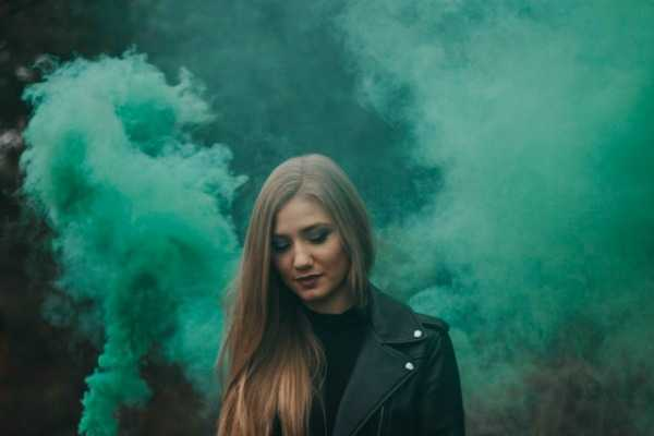 girl with green smoke growth of conscience