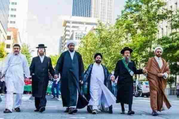 different religions walking