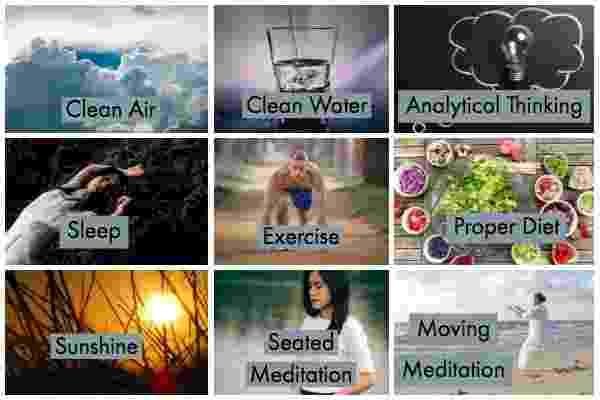 Nine Elements of spiritual practice Find the Right Mix of Essential Health Elements