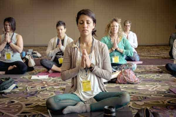 self-care ideas people meditating