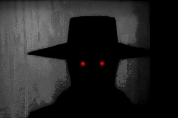 Shadow People with hat and red eyes